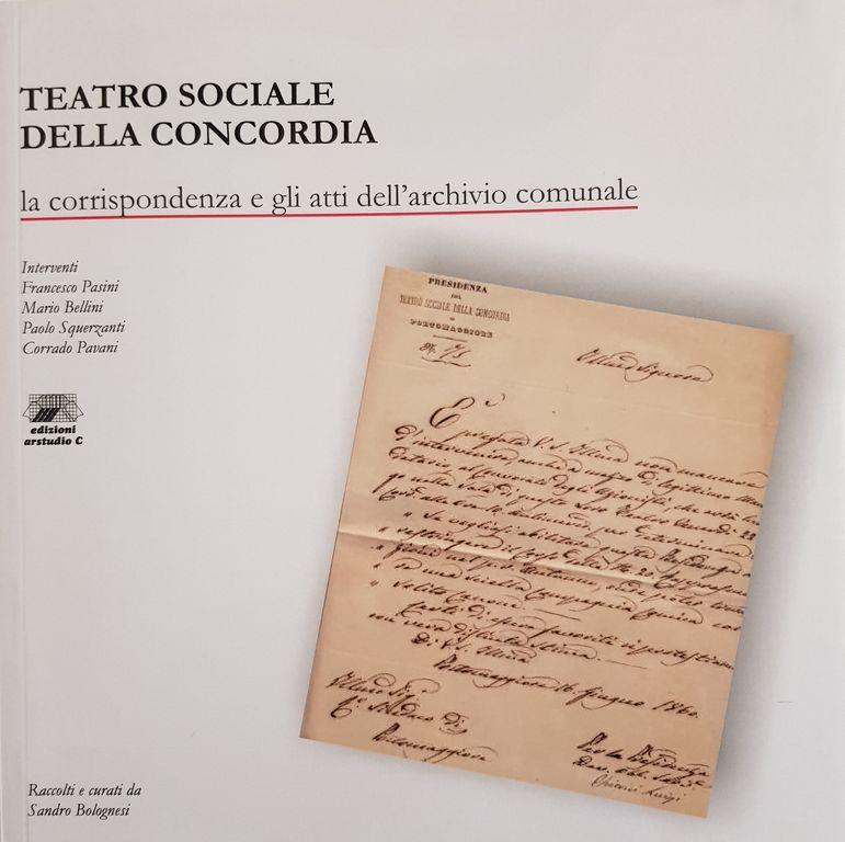 """Presentazione del Libro """"Teatro Sociale della Concordia"""